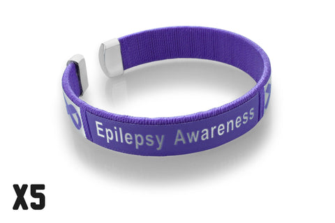 5 Pack Epilepsy Awareness Bangle