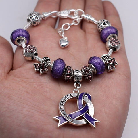 Fibromyalgia Awareness Luxury Charm Bracelet