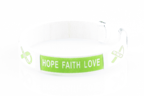 Muscular Dystrophy Hope Faith Love Bangle Bracelet