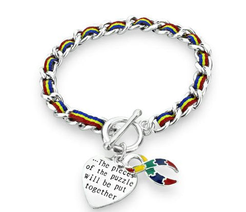 Autism Awareness Multi Colored Rope Bracelet