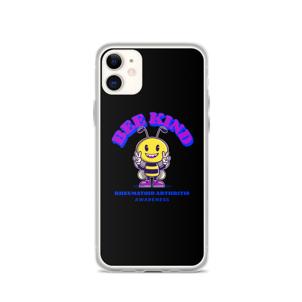 Rheumatoid Arthritis Awareness Bee Kind iPhone Case