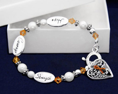 Jewelry - Hope Strength Courage Skin Cancer Awareness Bracelet