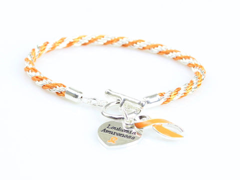 Jewelry - Leukemia Heart Charm Bracelet