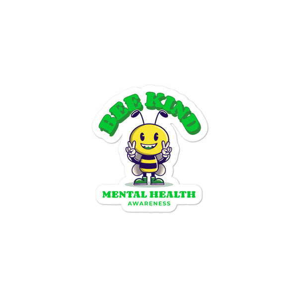 Mental Health Awareness Bee Kind Sticker