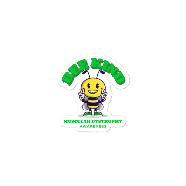Muscular Dystrophy Awareness Bee Kind Sticker