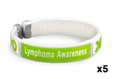5 Pack Lymphoma Awareness Bangle