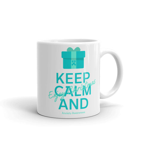 Anxiety Awareness Keep Calm and Enjoy Christmas Mug