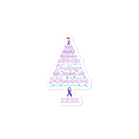Suicide Awareness Christmas Hope Sticker