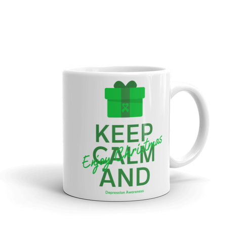 Depression Awareness Keep Calm and Enjoy Christmas Mug