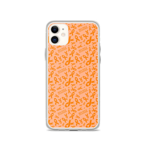 Multiple Sclerosis Awareness Ribbon Pattern iPhone Case