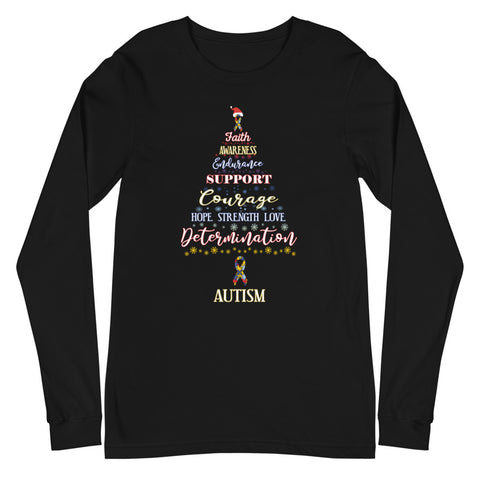 Autism Awareness Christmas Hope Long Sleeve T-Shirt