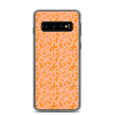 Multiple Sclerosis Awareness Ribbon Pattern Samsung Phone Case