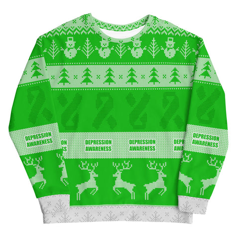 Depression Awareness Christmas Jumper Sweatshirt
