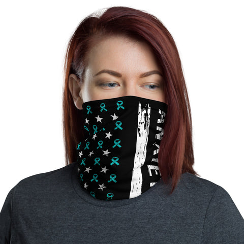 Anxiety Awareness USA Flag Washable Face Mask / Neck Gaiter