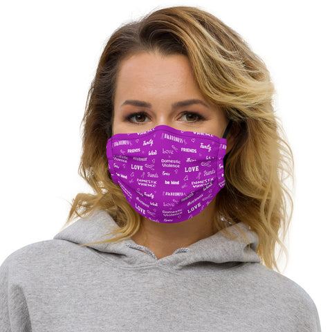 Domestic Violence Awareness Be Kind Pattern Premium Face Mask