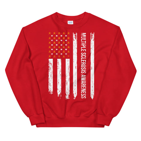 Multiple Sclerosis Awareness USA Flag Sweatshirt
