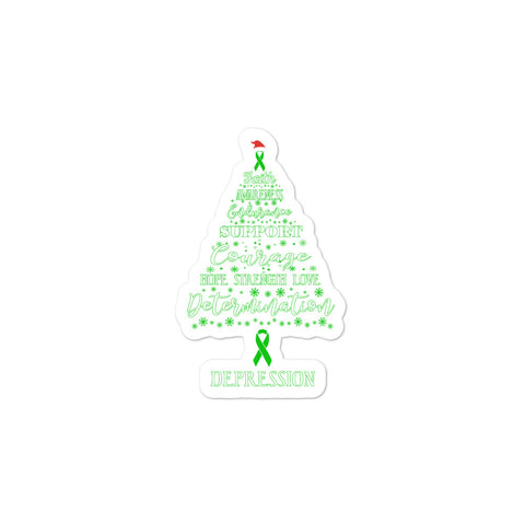 Depression Awareness Christmas Hope Sticker