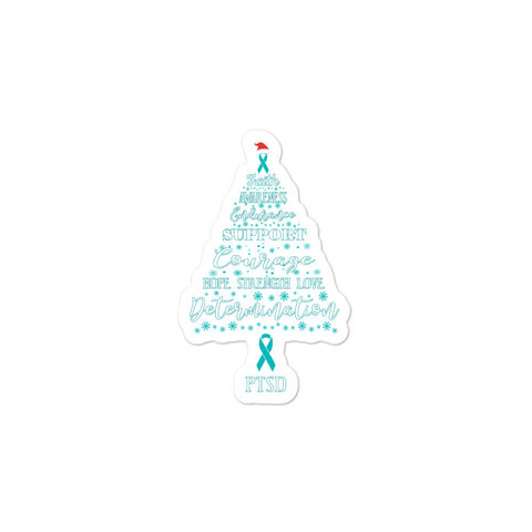 PTSD Awareness Christmas Hope Sticker