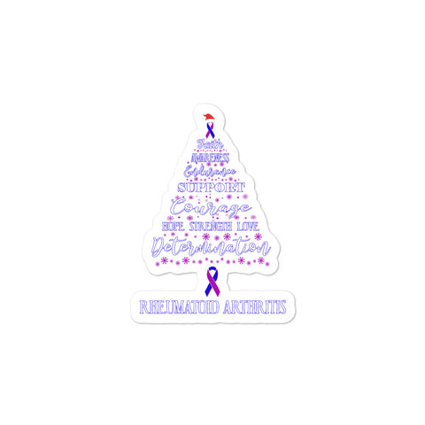 Rheumatoid Arthritis Awareness Christmas Hope Sticker