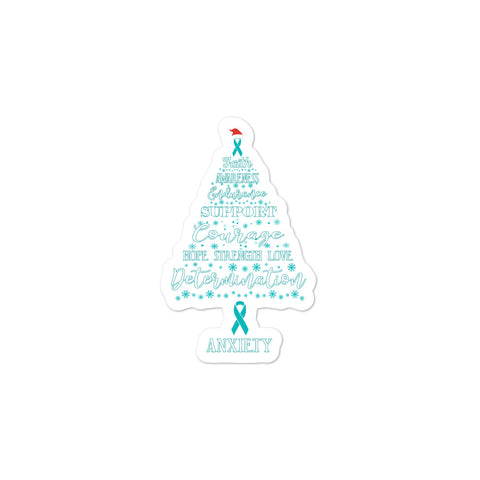 Anxiety Awareness Christmas Hope Sticker