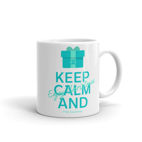 PTSD Awareness Keep Calm and Enjoy Christmas Mug