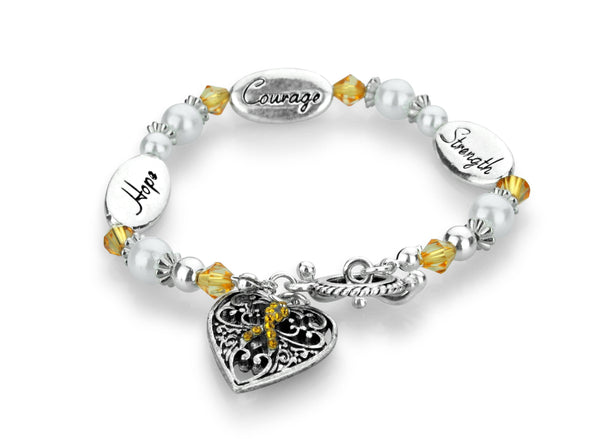 Hope Strength Courage Kidney Cancer Awareness Bracelet