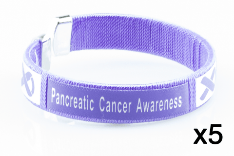5 Pack Pancreatic Cancer Awareness Bangle