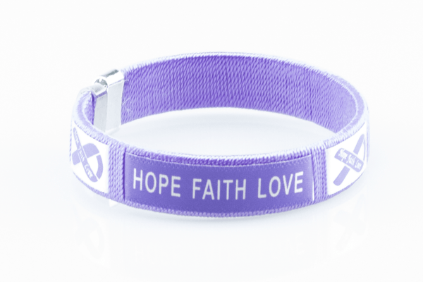 Pancreatic Cancer Hope Faith Love Bangle Bracelet