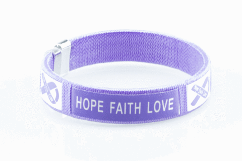 Cystic Fibrosis Hope Faith Love Bangle Bracelet