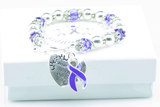 Where There Is Love Crohn's & Colitis Ribbon Bracelet