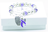 Where There Is Love Pancreatic Cancer Ribbon Bracelet