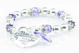 Where There Is Love Epilepsy Ribbon Bracelet