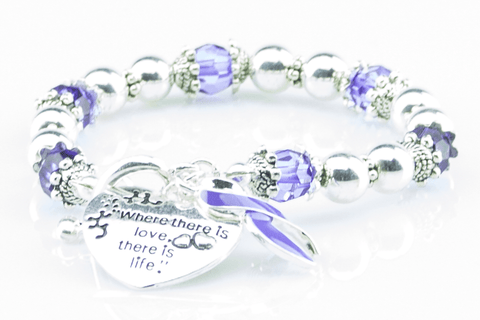 Where There Is Love Lupus Ribbon Bracelet
