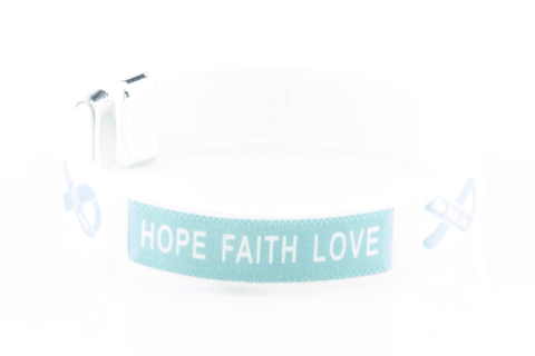 PCOS Hope Faith Love Bangle Bracelet
