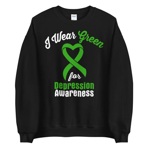 Depression Awareness I Wear Green Sweater