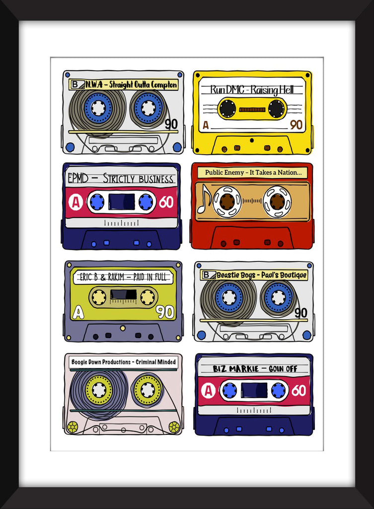 Classic Rap Albums - Unframed Print - Ideal Gift for Music Fan