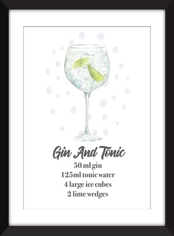 The Perfect Gin and Tonic - Unframed Print