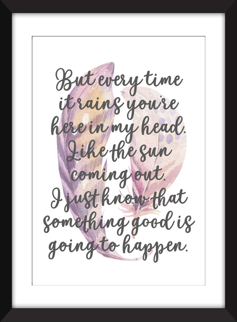 Kate Bush Cloudbusting Lyrics  - Unframed Print