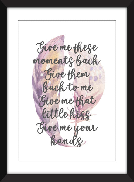 Kate Bush This Woman's Work Lyrics  - Unframed Print