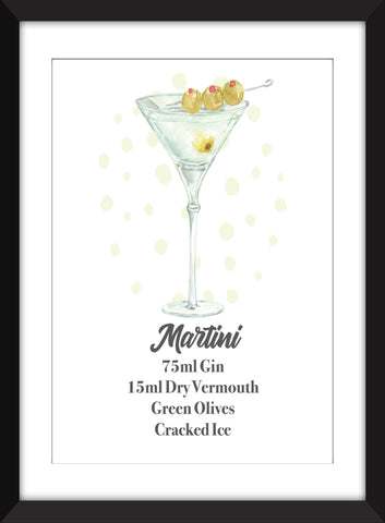 The Perfect Martini - Unframed Print