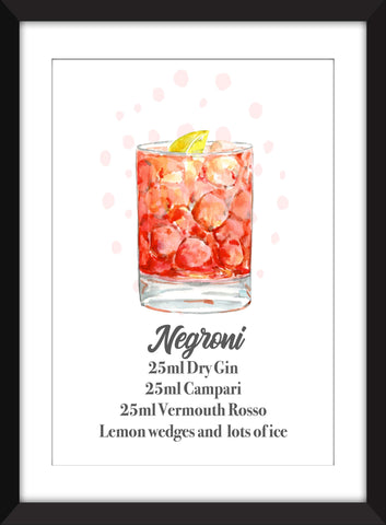 The Perfect Negroni - Unframed Print