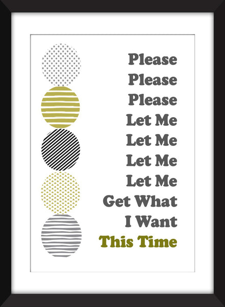 The Smiths - Please Please Please Let Me Get What I Want Lyrics - Unframed Print