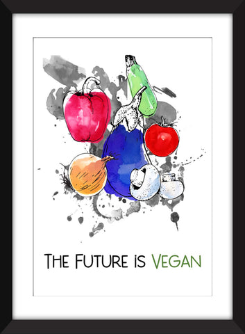 The Future is Vegan - Unframed Print