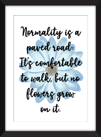 "Vincent Van Gogh ""Normality is a Paved Road"" Quote Unframed Print"