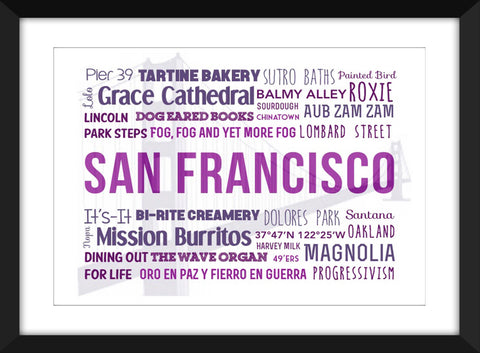 A Celebration of San Francisco - Unframed Print