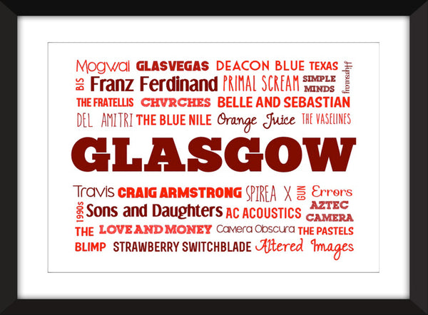 The Sound of Glasgow - Unframed Typography Print