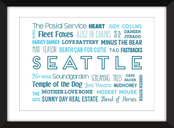 The Sound of Seattle - Unframed Typography Print