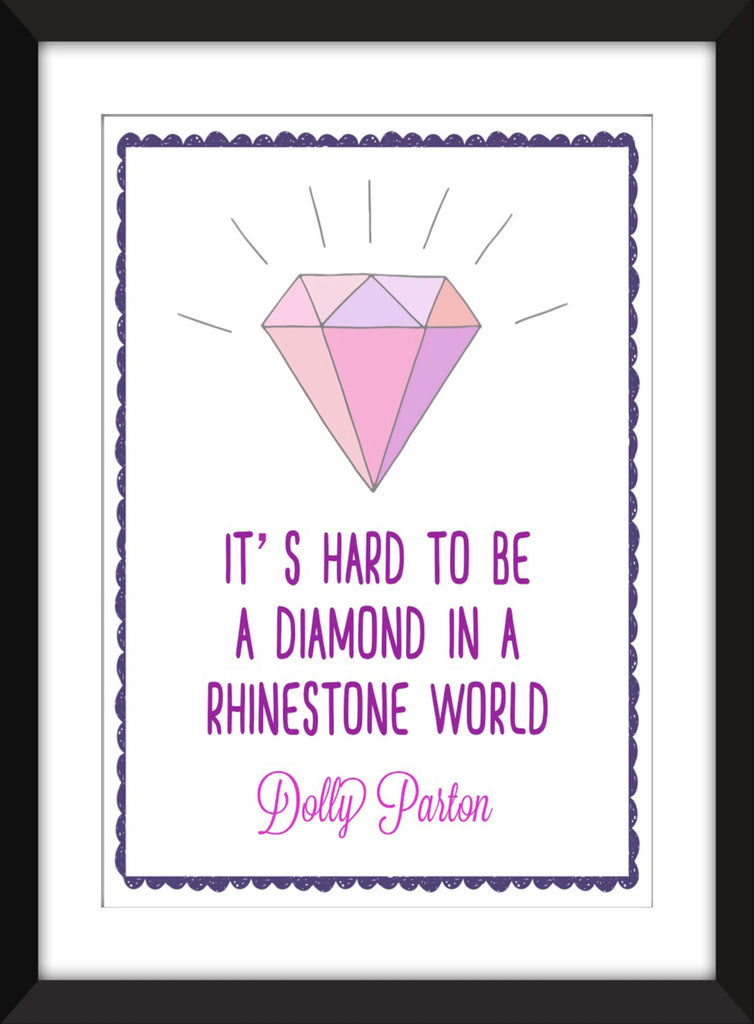 Dolly Parton Diamond in a Rhinestone World - Unframed Print