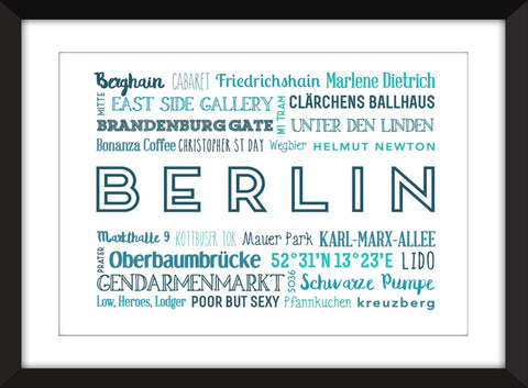 A Celebration of Berlin Unframed Print