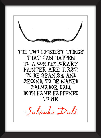 "Salvador Dali ""Luck"" Quote Unframed Print"
